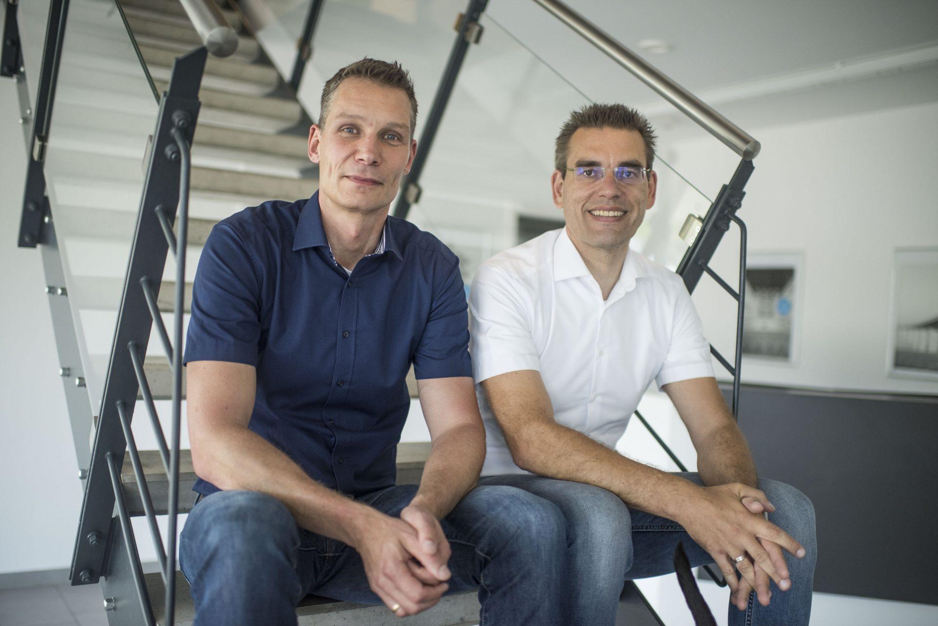 Das Foto zeigt die Geschäftsführer Friemel und Kolloczek von Intrakon. Foto: Stadt Recklinghausen