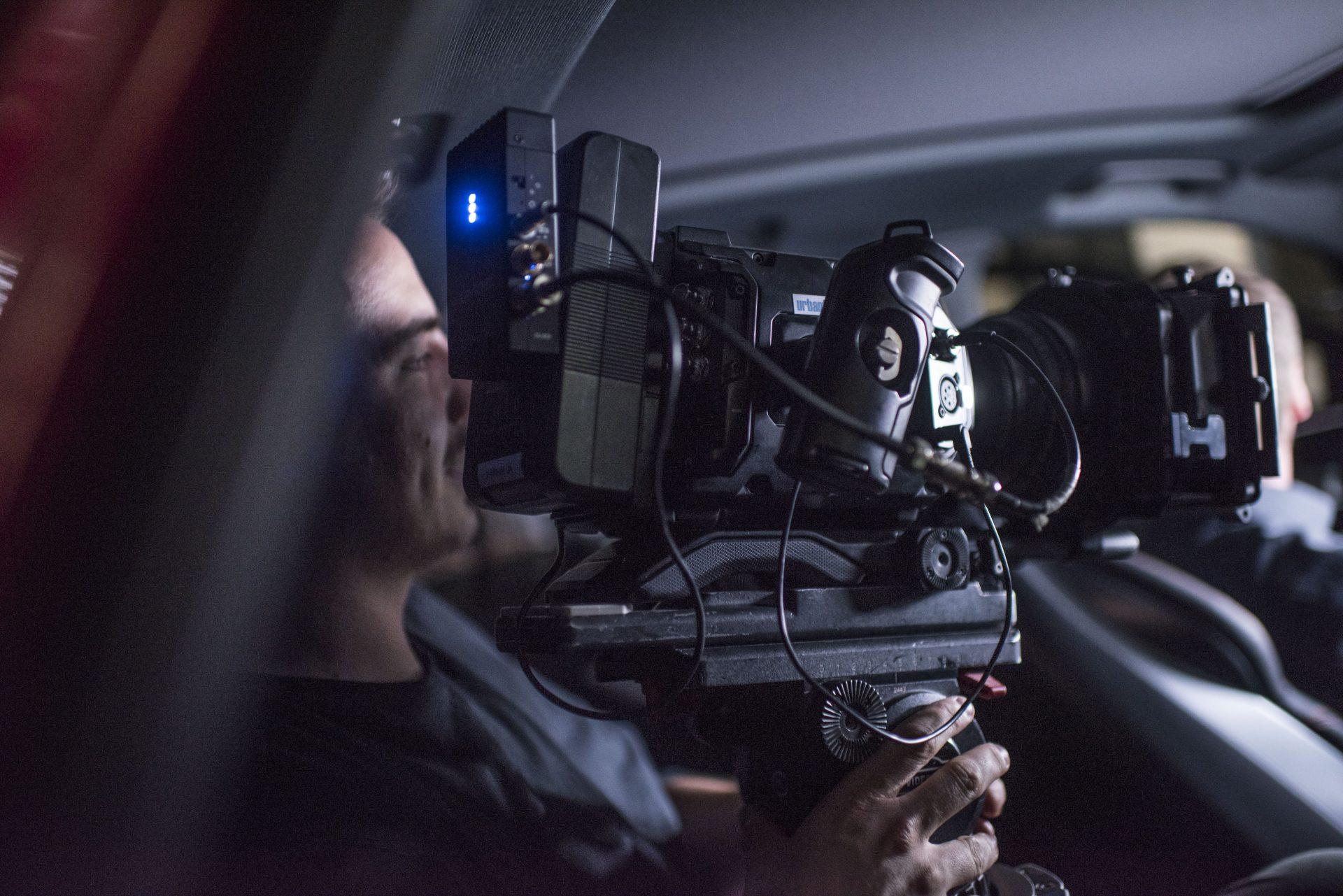 Der Kameramann von Urbanfilm beim Dreh für einen Imagefilm. Foto: Stadt Recklinghausen