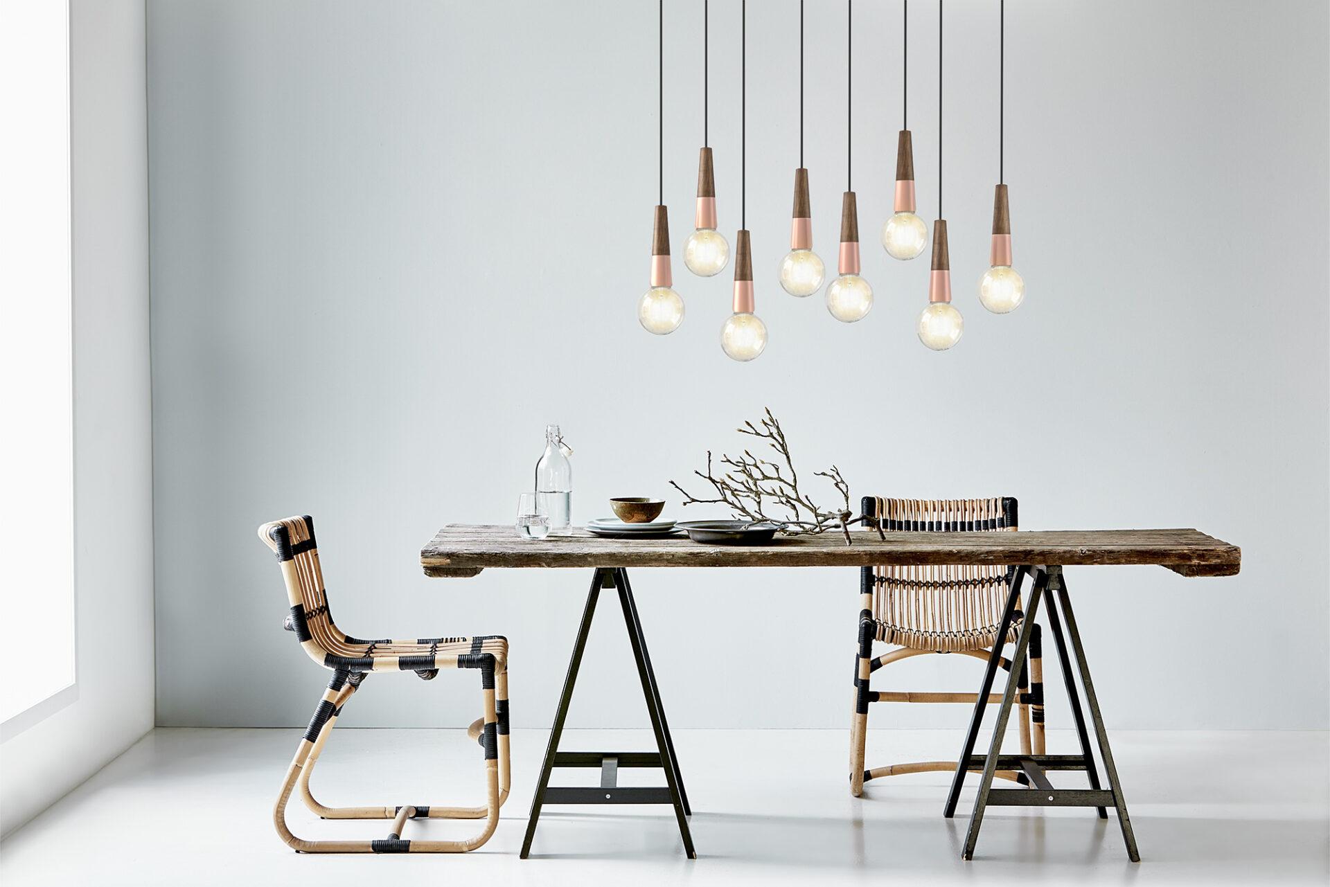 Leuchten über einem Esstisch. Foto: click-licht.de